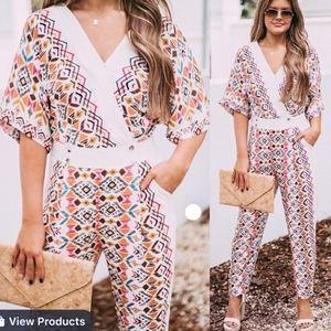 ELLISON Stitch Fix Boho Chic Kimono Jumpsuit